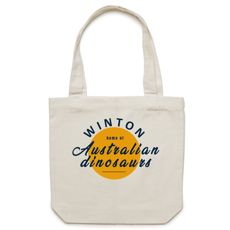 Home of Australian dinosaurs canvas tote bag