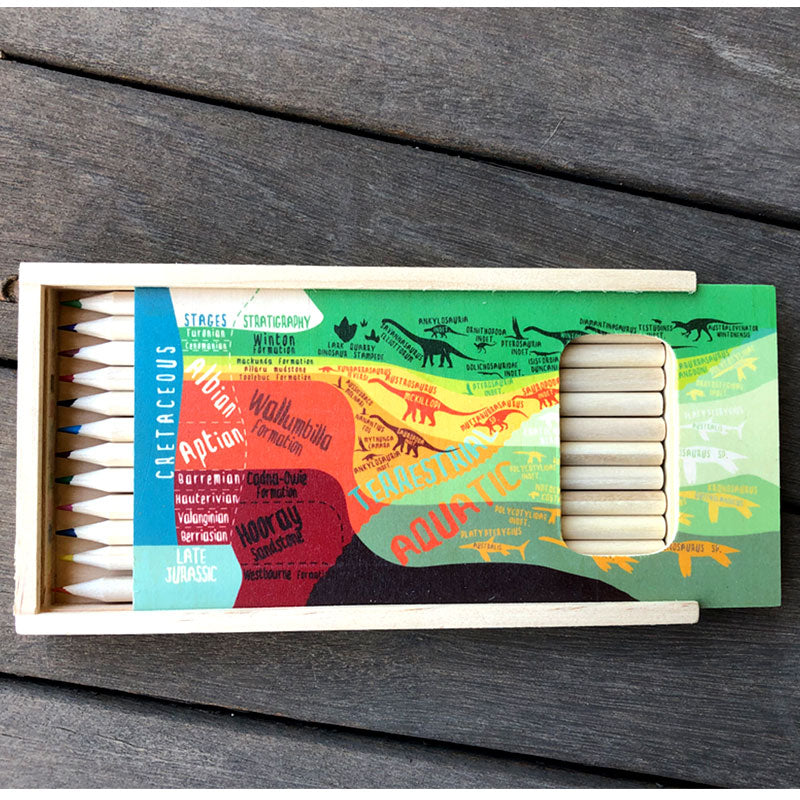 Outback stratigraphy pencil set
