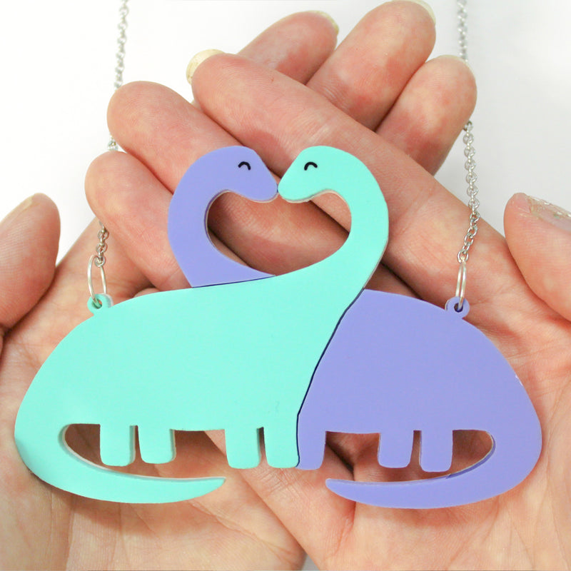 Entwined sauropod necklace