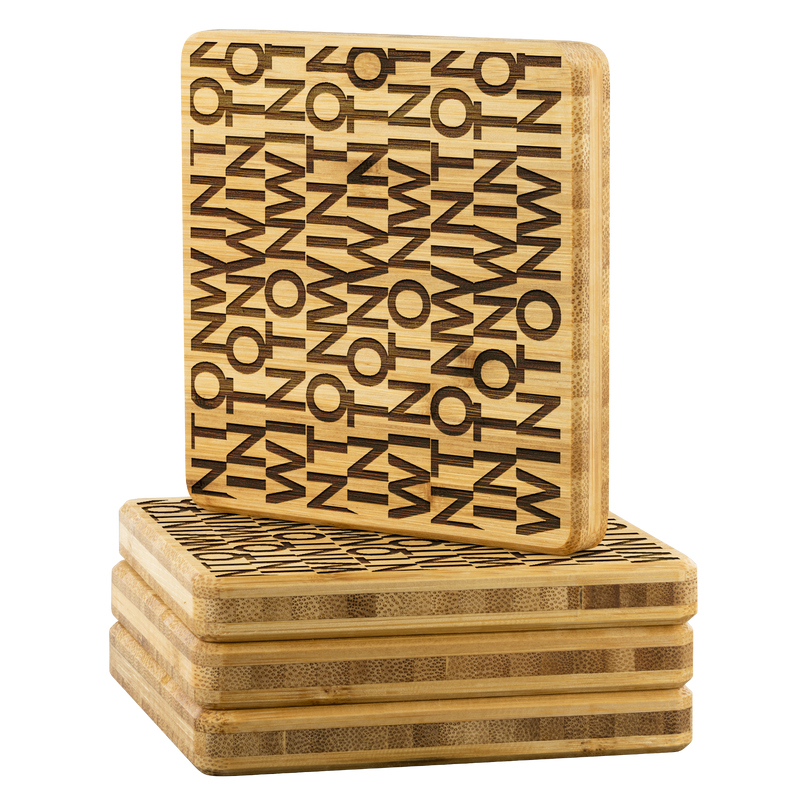 Winton chic bamboo coasters (set of four)