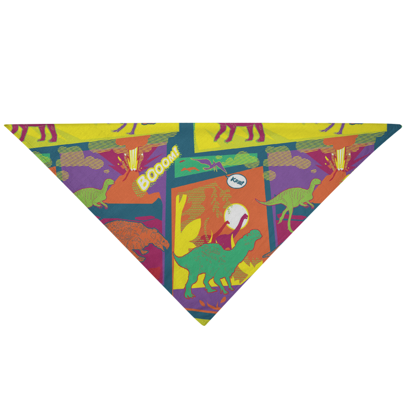 Pop-art dinosaurs pet bandana