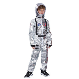 Men Astronaut Alien Spaceman Cosplay Carnival Party Adult Women Pilots Outfits Halloween Costumes Group Family Matching Clothes