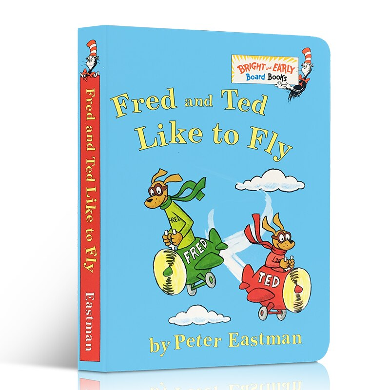 English Fred and Ted Like To Fly Peter Eastman Cardboard Book Children's Picture Educational Book for Children Learning Toys