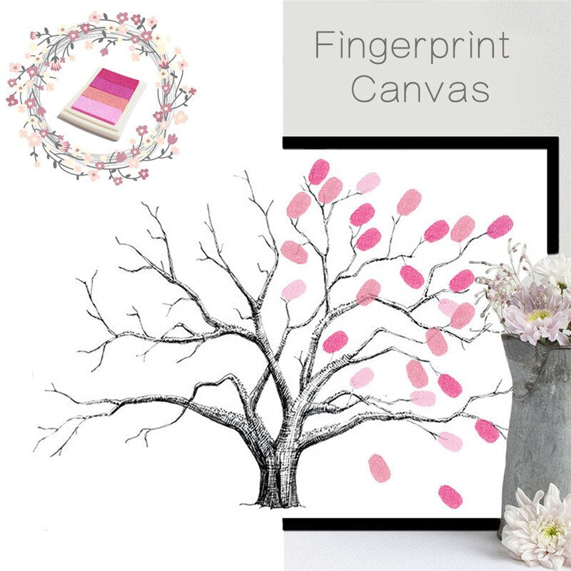 Wedding Gifts for Guests DIY Finger Doodle Decorative Painting Fingerprint Sign in Tree Livre Birthday Party Signature Comunion