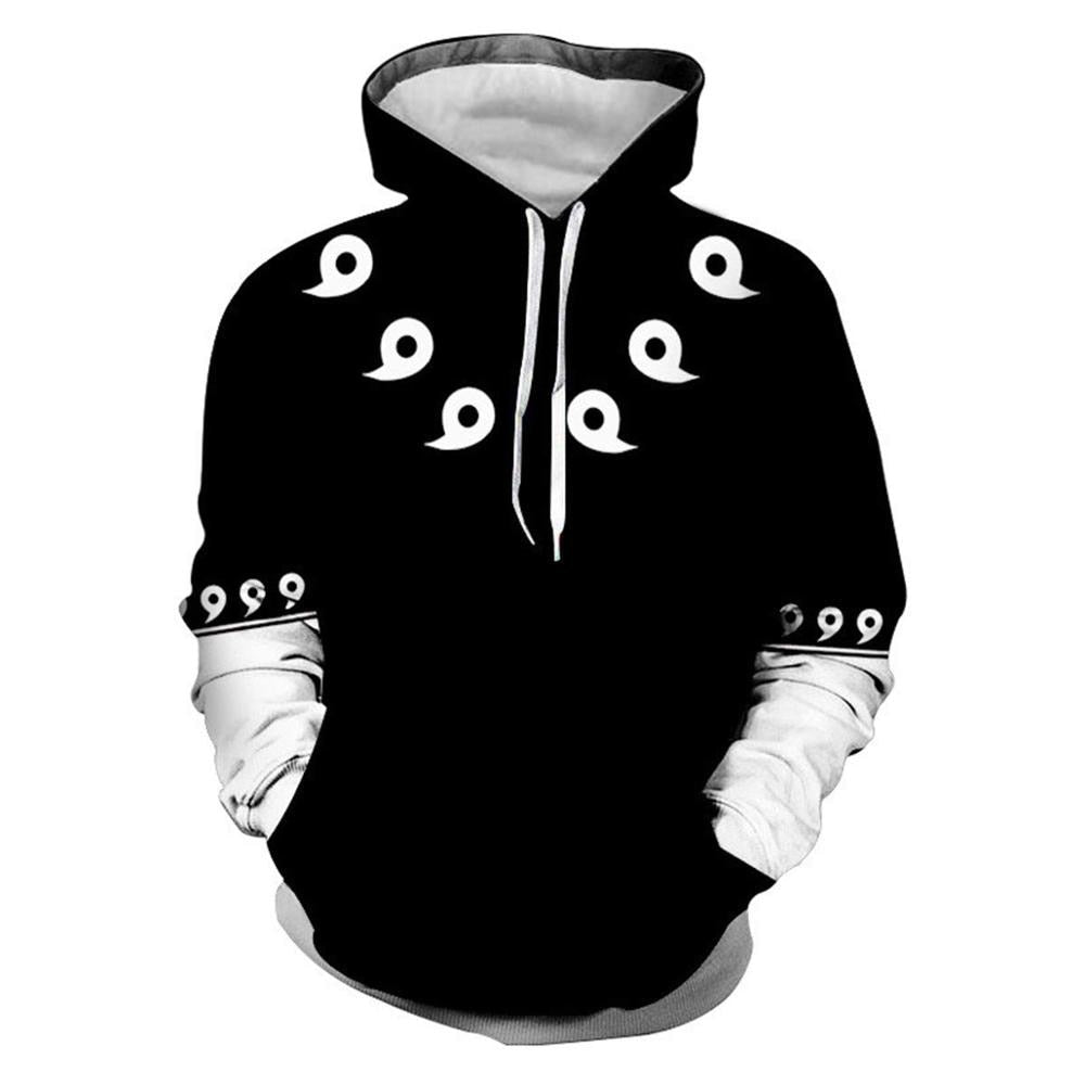Unisex Anime NARUTO Sasuke Uchiha Casual Hooded Sweatshirt Hoodie Jacket Coat