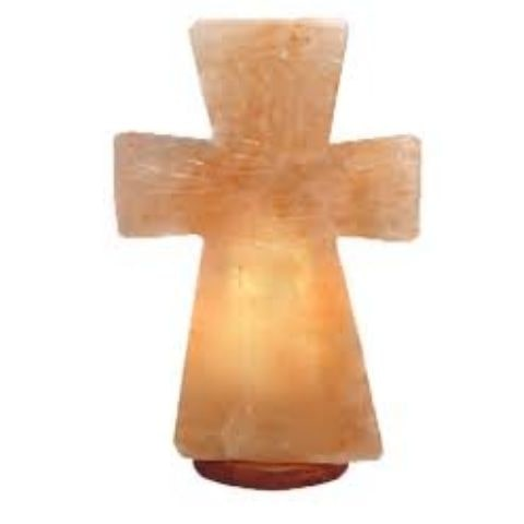 Himalayan Pink Cross Salt Lamp