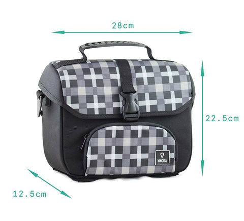 Vincita Co., Ltd. bicycle bag B017D-K Mini Front Bag for Brompton with KlickFix Adapter
