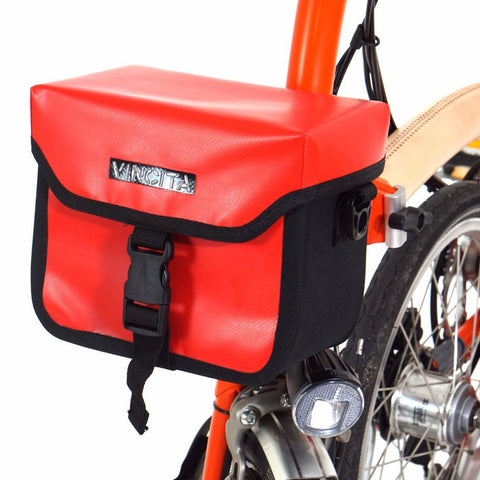 Vincita Co., Ltd. bicycle bag B017WP-AK Handlebar Bag Waterproof with KlickFix Adapter for Brompton