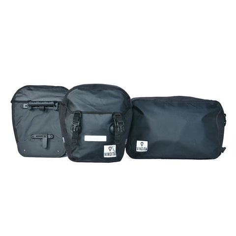 vincitabikebag bicycle bag B101WP Triple Bag Waterproof
