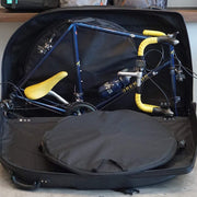 Vincita Co., Ltd. bicycle bag B146X Bicycle hard case with removable wheels.