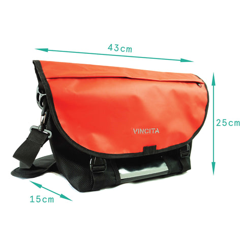 vincitabikebag bicycle bag B205MBK Messenger Bag for Brompton with KlickFix Adapter