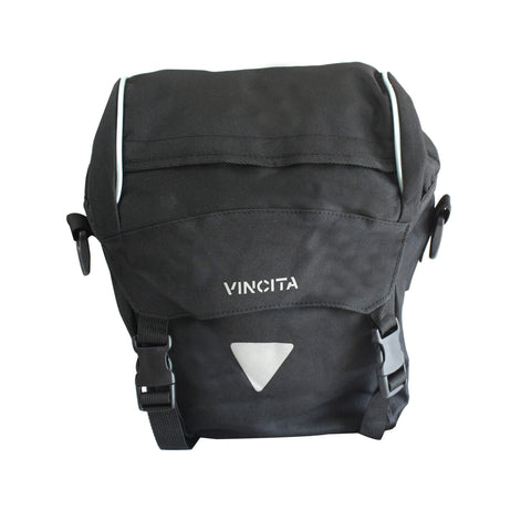 vincitabikebag bicycle bag Black / th B050-V Single Pannier Small