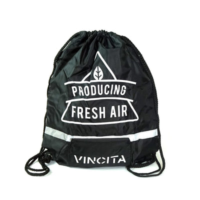 Vincita Co., Ltd. bicycle bag Black / th B123 Foldable Pull String Bag