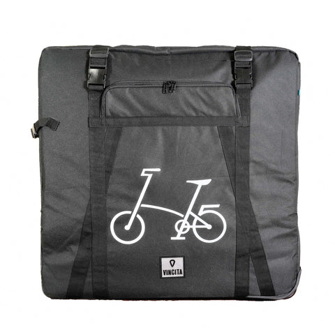 Vincita Co., Ltd. bicycle bag Black (With Bicycle Logo) / th B132 Soft Transport Bag for Folding Bike