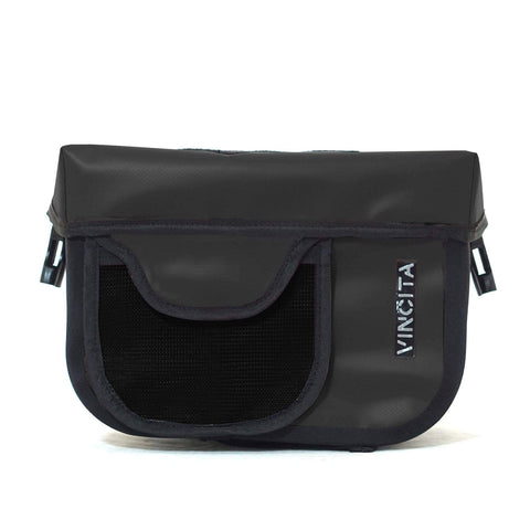 Vincita Co., Ltd. bicycle bag Black with front pocket / Loehr Waterproof Handlebar Bag