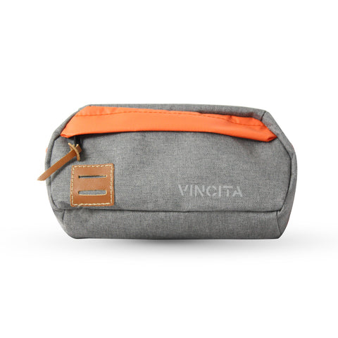Vincita Co., Ltd. bicycle bag Grey-Orange / th B208F Waist Bag