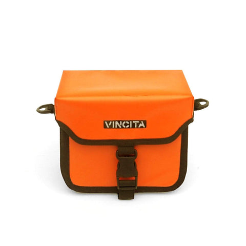 Vincita Co., Ltd. bicycle bag Orange Waterproof Handlebar Bag Tour Guide