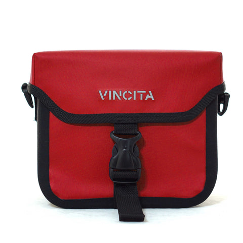Vincita Co., Ltd. bicycle bag Red / th B017WP-AK Handlebar Bag Waterproof with KlickFix Adapter for Brompton