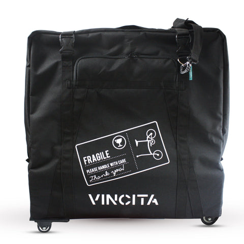 Vincita Co., Ltd. bicycle bag With bicycle logo / th B132H Soft Transport Bag for Brompton Bike with wheels
