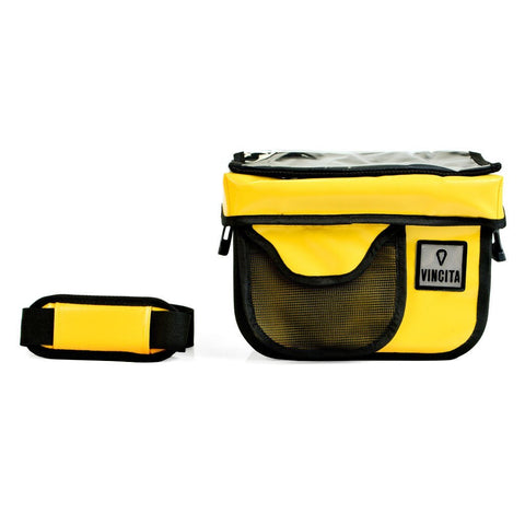 Bicycle hard case with removable wheels.