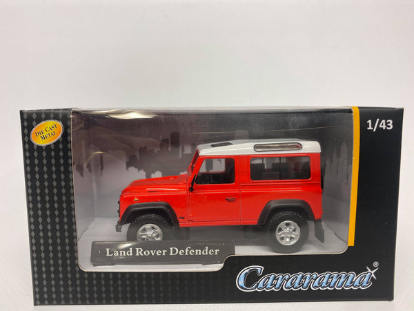 Landrover Defender 90. Red . Oxford . 1/43 Scale. Boxed .