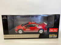 Peugeot 307 WRC . Total #5  . Sunstar . 1/18 Scale. Boxed .