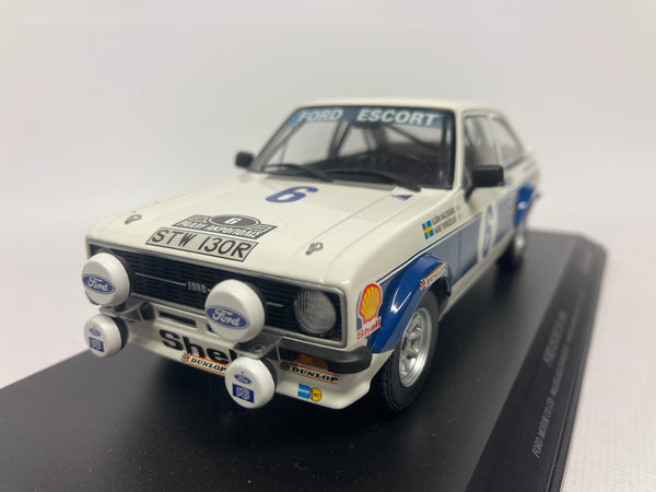 Ford Escort Mk2 Rally Car . Ford Motor Company #6 . Minichamps . 1/18 Scale . Boxed