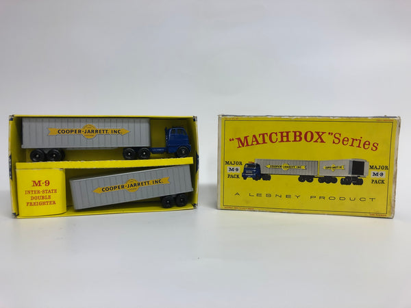 Matchbox M-9 Interstate Double Freighter . Major Pack. Boxed. Rare. Vintage.