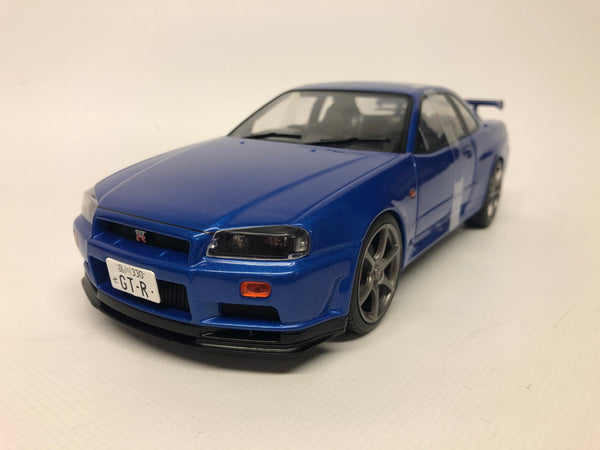 Nissan Skyline R34 GT-R . Bayside Blue . Solido . 1/18 Scale. New & Boxed .