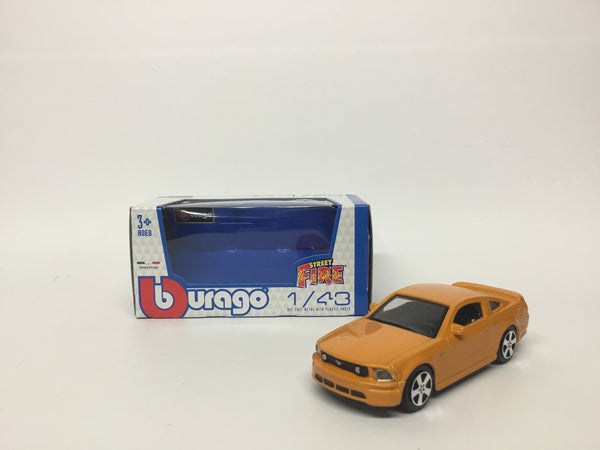 Ford Mustang Orange . Bburago . 1/43 Scale. Boxed .