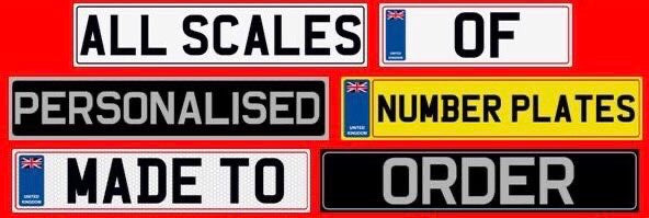 Numberplates . 1/18 Scale