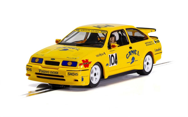 Ford Sierra Cosworth RS500 . BTCC . Camel . 'Came 1st'  . 1/32 Scalextric. New & Boxed . (C4155)