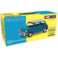 Austin Mini Cooper Mk1. Surf Blue . Corgi Vanguards . 1/43 Scale. Boxed .