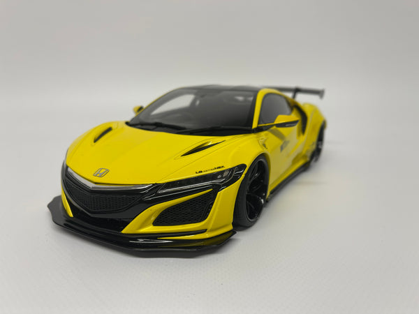 Honda NSX Liberty Walk. Yellow . GT Spirit Asia Exclusive . 1/18 Scale. Boxed.