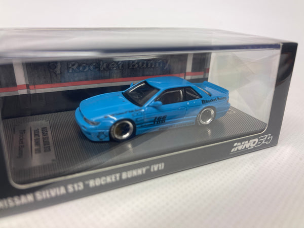 Nissan Silvia S13 Rocket Bunny . Blue . Inno64 . 1/64 Scale. Boxed .