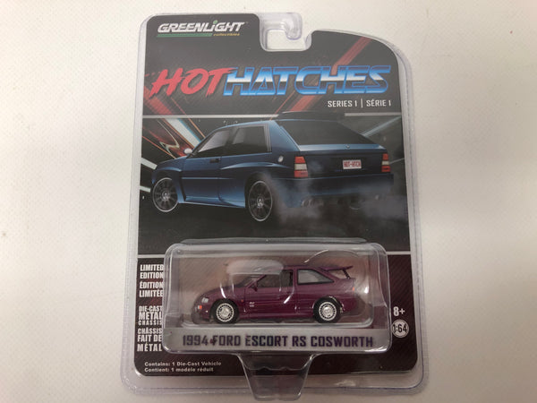 Ford Escort RS Cosworth . Violet. Greenlight . 1/64 Scale.