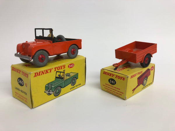 Dinky Toys Landrover And Trailer . Number 340 & 341 . Boxed. Rare. Vintage.