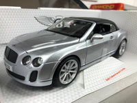 Bentley Continental Supersports Convertible. Silver . Bburago. 1/18 Scale. Boxed .