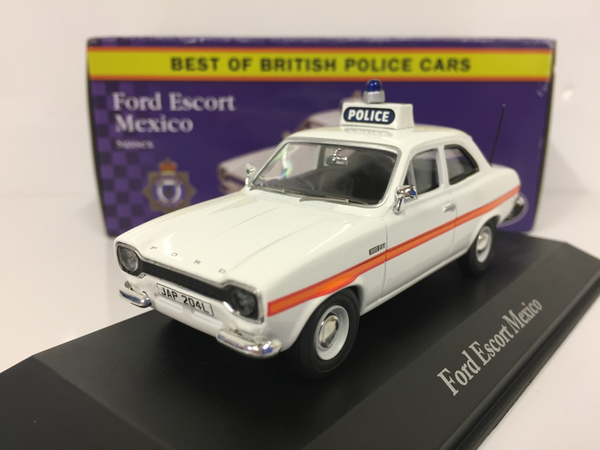 Ford Escort Mk1 Mexico .Police Car. Atlas. 1/43 Scale. Boxed .