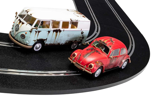 Rusty Rides Set . Rat Look VW Beetle & Camper . 1/32 Scalextric. New & Boxed . (C3966A)