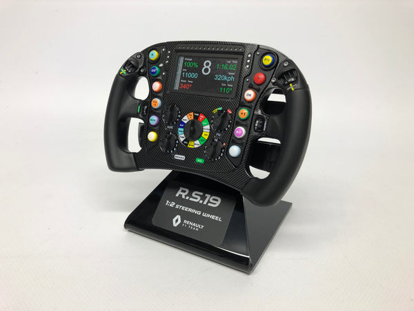 Renault RS19 Formula 1 Steering Wheel. 1/2 Scale. Zmodels. Boxed .