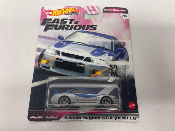 Nissan Skyline R33 GTR. Fast And Furious . Hotwheels Premium . Realriders.