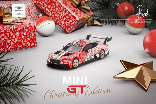 Bentley Continental GT3 Christmas Edition . Mini GT . 1/64 Scale. Boxed (188)