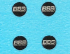 BBS Wheel Emblems For 1/18 Scale Wheel Sets