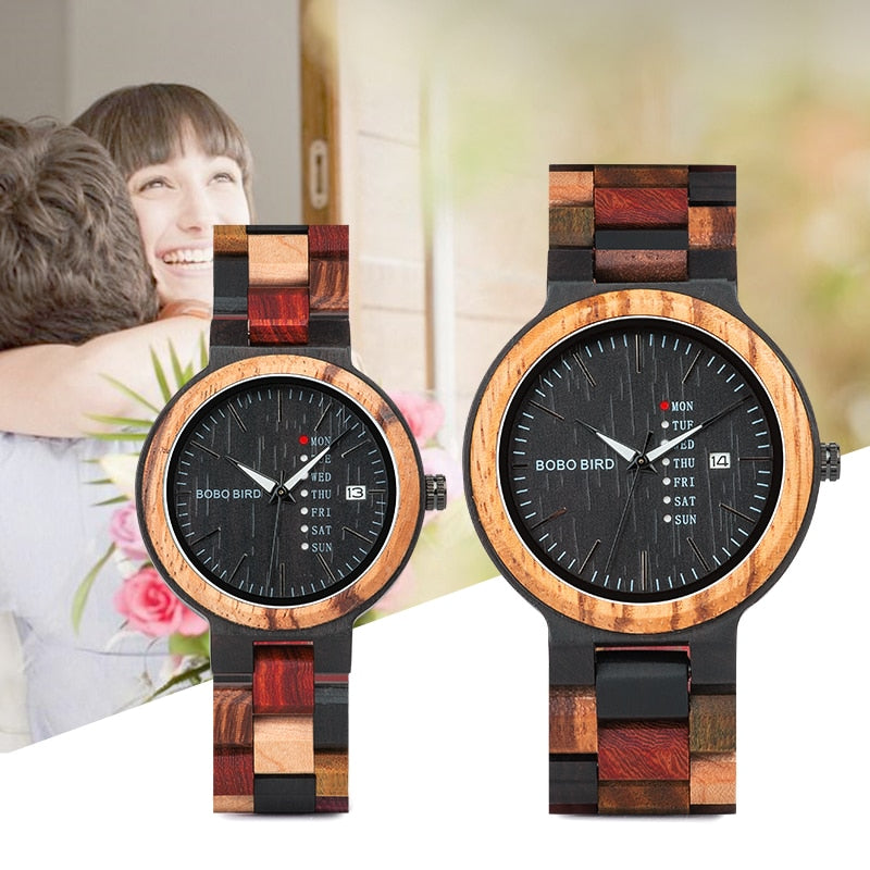 Wood Watch Lover Couple Watches Men Women