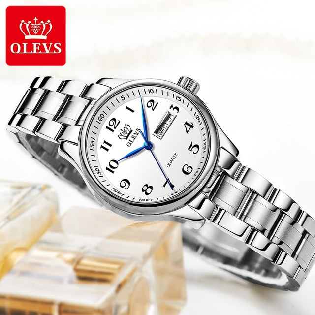 OLEVS Fashion Waterproof Stainless Steel Women Watches Luxury