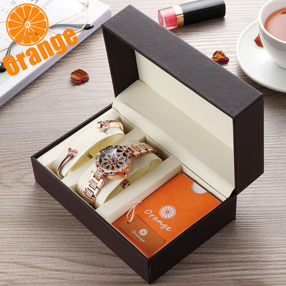 ORANGE Brand Stainless Steel Waterproof Watches