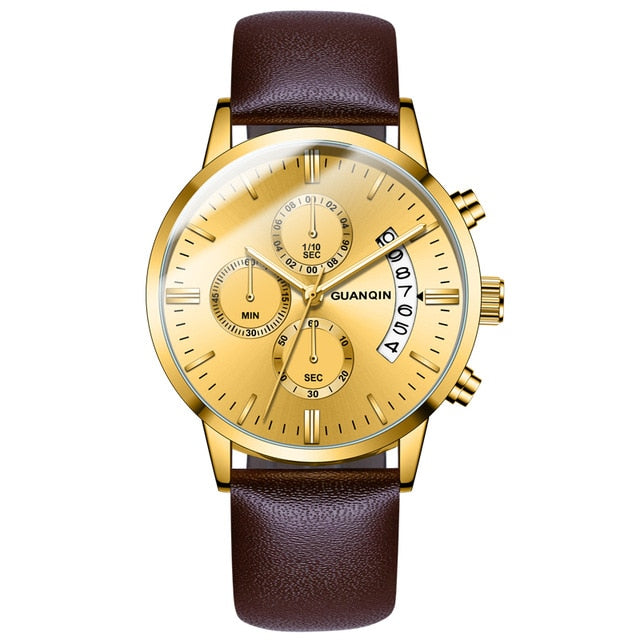 GUANQIN Men Luxury Casual Dress Watch