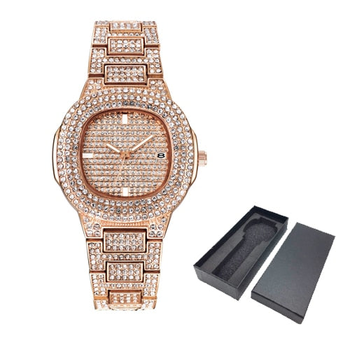 Diamond Watches Hip Hop Quartz Watch For Women and men