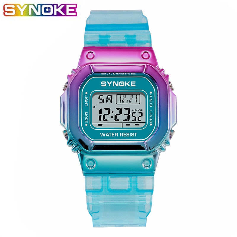 LED Luminous Fashion Digital Women Colorful Sports New Wrist Watches